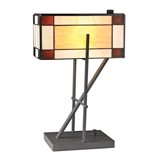 Dimond Fortwilliam Angular 1-light Tiffany-style Glass Table Lamp