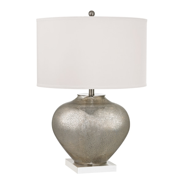 Dimond Edenbridge 1-light Glass Table Lamp With Led Nightlight - Silver