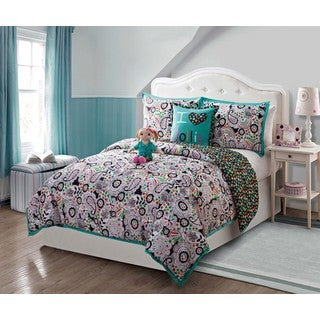 VCNY Dollie and Me Zoe 5-piece Comforter Set with Plush Doll