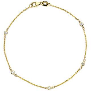 Suzy Levian 1/10 ct TDW 14K Yellow Gold Diamond Bracelet|https://ak1.ostkcdn.com/images/products/9834297/P16997917.jpg?impolicy=medium