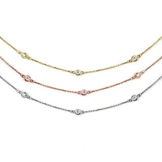 Suzy Levian 14k Gold 2/5ct TDW Diamond 18-inch Necklace