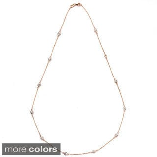 Suzy Levian 14k Gold 7/8ct TDW Diamond Necklace (G-H, SI1-SI2)