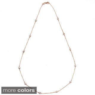 Suzy Levian 14k Gold 7/8ct TDW Diamond Necklace