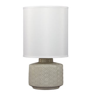 Signature Design by Ashley 1-light Grey Ceramic Table Lamp