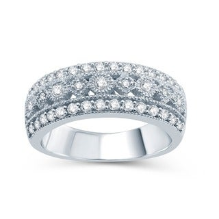 Sterling Silver 1/2ct TDW Diamond Wedding Ring