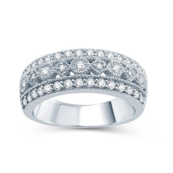 Sterling Silver 1/2ct TDW Diamond Wedding Ring