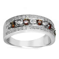 Sterling Silver 3/4ct TDW Red Diamond Band Ring