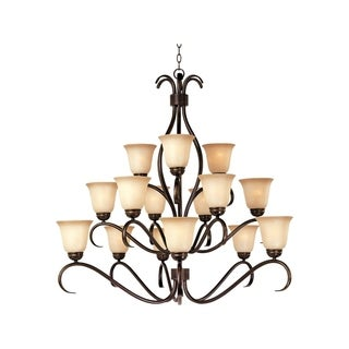 Maxim Basix Bronze 15-light Chandelier