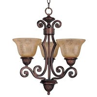 Maxim Symphony 3-light Bronze Chandelier