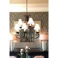 Maxim Manor Bronze 9-light Chandelier with Shades