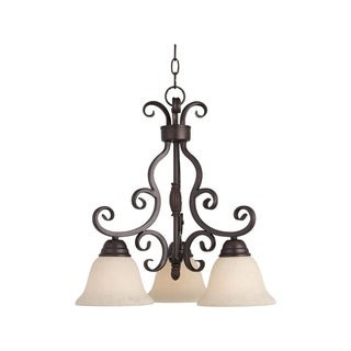 Maxim Manor Bronze 3-light Chandelier
