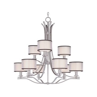 Maxim Orion Nickel 9-light Chandelier