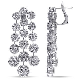 Miadora Signature Collection 18k White Gold 8 2/5ct TDW Diamond Chandelier Earrings