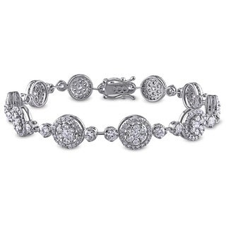 Miadora Signature Collection 18k White Gold 4 1/8ct TDW Diamond Bracelet (G-H, SI1-SI2)