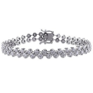 Miadora 18k White Gold 4 1/2ct TDW Diamond Tennis Bracelet