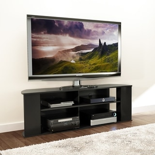 Broadway Basics Black 60-inch TV Stand
