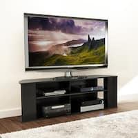 Porch & Den Coconut Grove Justison Basics Black 60-inch TV Stand
