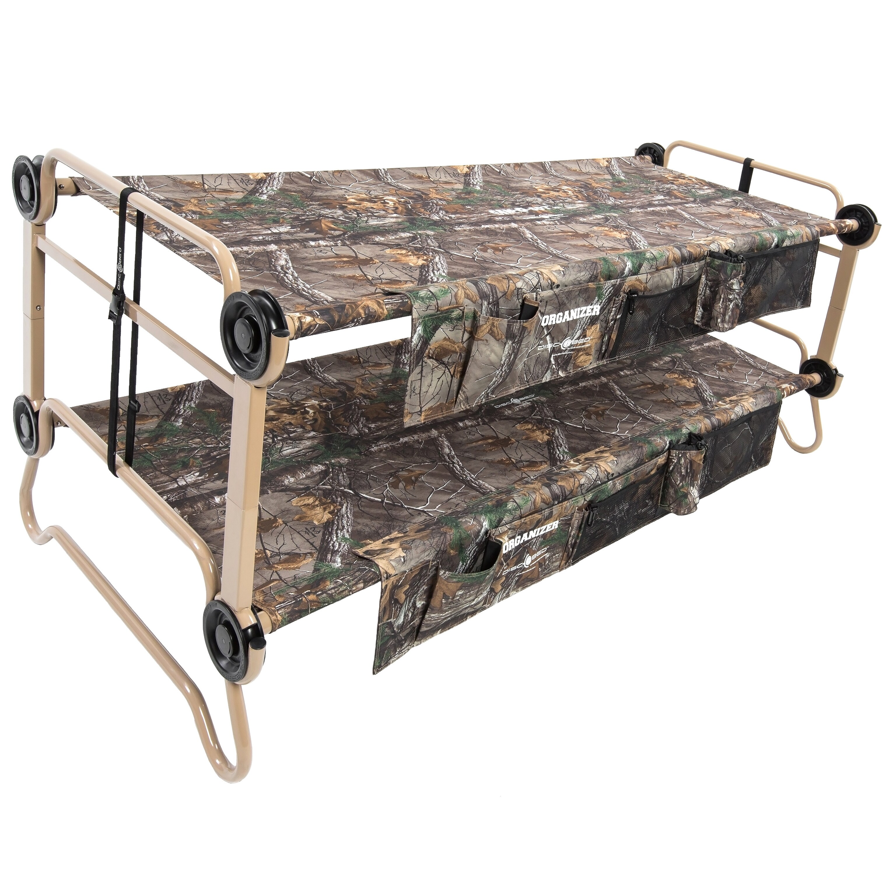 Cam-O-Bunk Realtree Xtra XL Portable Double Bunk Bed, Beige