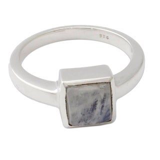 Handmade Sterling Silver 'Perfection' Moonstone Ring (India)