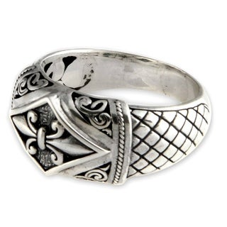 Handcrafted Sterling Silver 'Fleur de Lis' Ring (Indonesia)