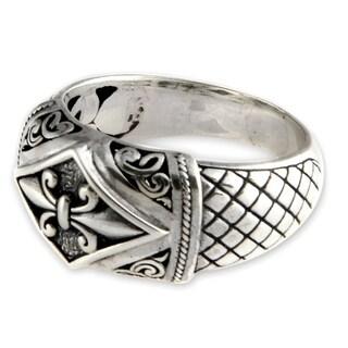 Handmade Sterling Silver 'Fleur de Lis' Ring (Indonesia)