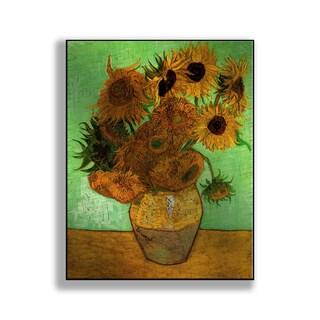 Gallery Direct Vincent Van Gogh's 'Vase with Twelve Sunflowers' Print on Metal