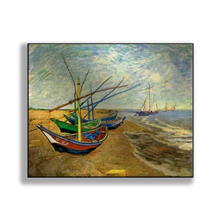 Gallery Direct Vincent Van Gogh's 'Fishing Boats on the Beach at Saintes-Maries' Print on Metal
