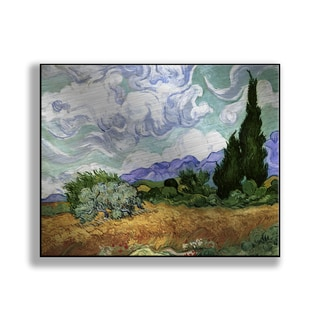 Gallery Direct Vincent Van Gogh's 'Wheat Field with Cypresses' Print on Metal