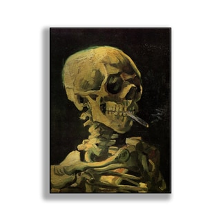 Gallery Direct Vincent Van Gogh's 'Skull with Burning Cigarette' Print on Metal