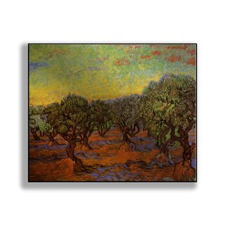 Gallery Direct Vincent Van Gogh's 'Olive Grove: Orange Sky' Print on Metal
