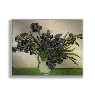 Gallery Direct Vincent Van Gogh's 'Vase with Irises' Print on Metal
