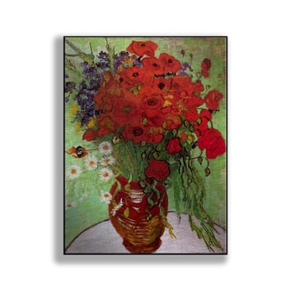 Gallery Direct Vincent Van Gogh's 'Still Life - Red Poppies and Daisies' Print on Metal