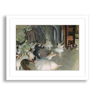 Gallery Direct Edgar Degas' 'The Rehearsal of the Ballet on Stage' Framed Paper Art