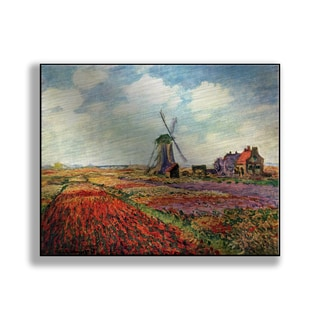Gallery Direct Claude Monet's 'Tulip Fields with the Rijnsburg Windmill' Print on Metal