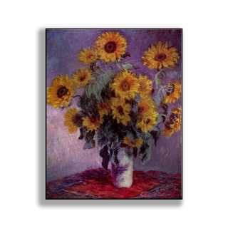 Gallery Direct Claude Monet's 'Bouquet of Sunflowers' Print on Metal