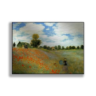 Gallery Direct Claude Monet's 'Poppies (Poppy Field)' Print on Metal