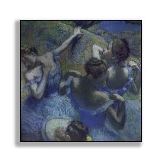 Gallery Direct Edgar Degas' 'Blue Dancers' Print on Metal