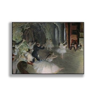 Gallery Direct Edgar Degas' 'The Rehearsal of the Ballet on Stage' Print on Metal