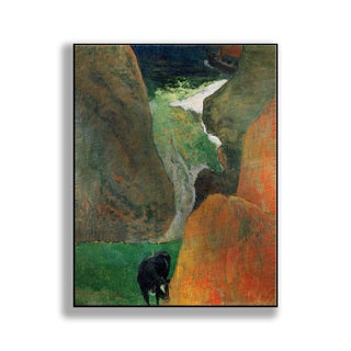 Gallery Direct Paul Gauguin's 'Seascape with Cow on the Edge of a Cliff' Print on Metal