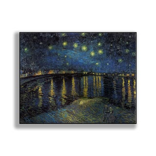 Gallery Direct Vincent Van Gogh's 'Starry Night Over the Rhone' Print on Metal