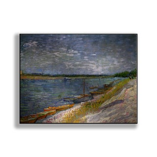 Gallery Direct Vincent Van Gogh's 'View of a River with Rowing Boats' Print on Metal