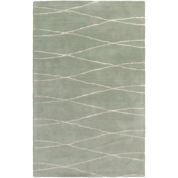 Hand-Tufted Fatima Geometric Wool Area Rug