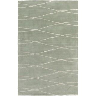Hand-Tufted Fatima Geometric Wool Rug (5' x 8')