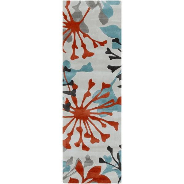 Hand-Tufted Elaina Contemporary Polyester Rug (2'6 x 8')