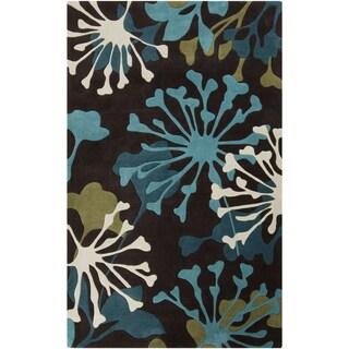 Hand-Tufted Elaina Floral Polyester Rug (2' x 3')