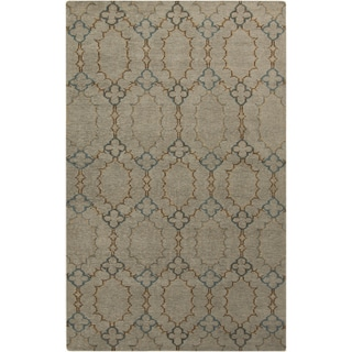 Hand-Knotted Alvin Geometric Pattern Wool Area Rug