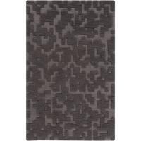 Hand-Woven Albert Solid Wool Area Rug (5' x 8')