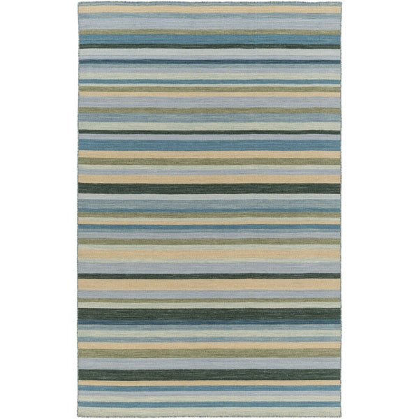Hand-Woven Darryl Stripe Wool Area Rug