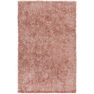 Hand-Woven Lindsey Solid Pattern Polyester Rug (2' x 3')