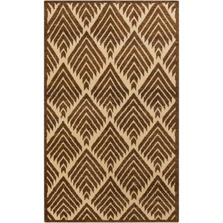 Hand-Knotted Amaya Geometric Pattern Wool Rug (8' x 11')